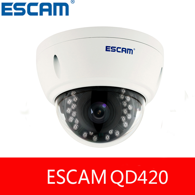 ESCAM QD420 H.265 4MP IP66 waterproof outdoor IP Dome Camera 1520P Onvif P2P IR Surveillance Night Vision Security CCTV Camera
