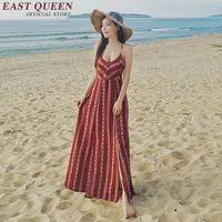 Boho chic dresses Tunic beach dress Vintage mexican dress Beach dress tunic Beach sundresses V Neck collar Backless KK1254