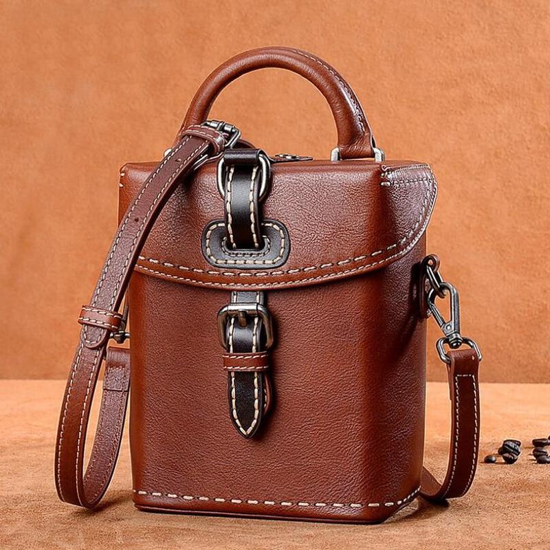 aa9f32fa4b Detail Feedback Questions about Genuine Leather Women Shoulder Bag Vintage  Women s Box Crossbody Bag Handbag Famous Brand Designer Lady Shoulder  Messenger ...