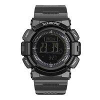 Multifunctional LCD Digital Watch Men Black Waterproof Sports Watches Rubber Band Bracelet Male Relogio Masculino Reloj