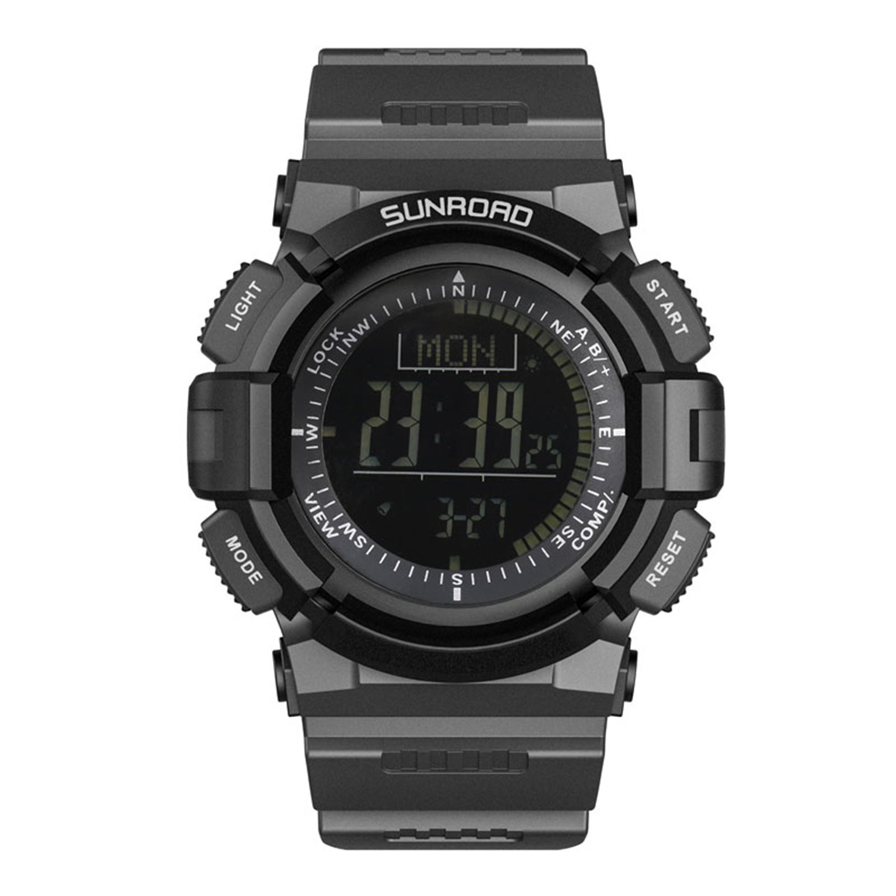 Multifunctional  LCD Digital Watch Men Black Waterproof Sports Watches Rubber Band Bracelet Male relogio masculino Reloj Hombre ezon outdoor sports for smart gps watches running male multifunctional 5atm waterproof electronic watch g1 black