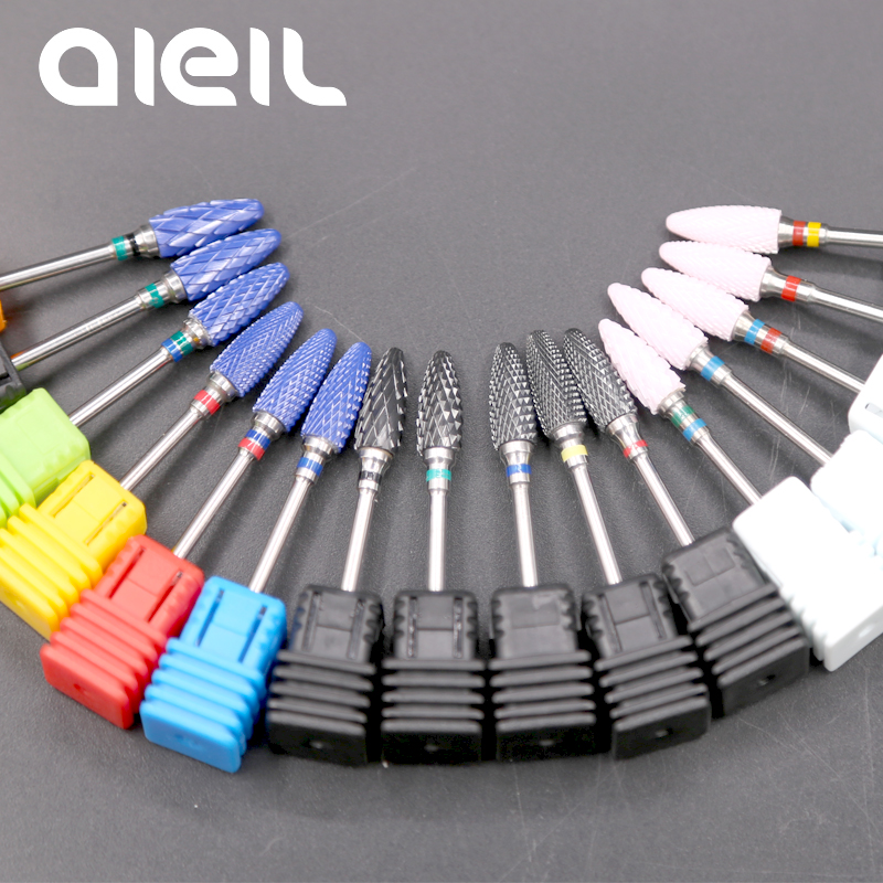 Nail Drill Bits Ceramic Nail Art Drill Bit Manicure Machine Drills Milling Cutters For Manicure Pedicure Electric Manicure Drill ceramic nail art tools milling cutter for manicure pedicure nail drill apparatus rotary manicure device set of milling cutters