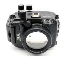 Meikon 40เมตร/130ftกรณีกันน้ำสำหรับcanon eos m3 (22มิลลิเมตรพอร์ต) (18-55มิลลิเมตรพอร์ต)กล้องใต้น้ำที่อยู่อาศัยสำหรับEOS M Ark IIIเครื่องหมาย3