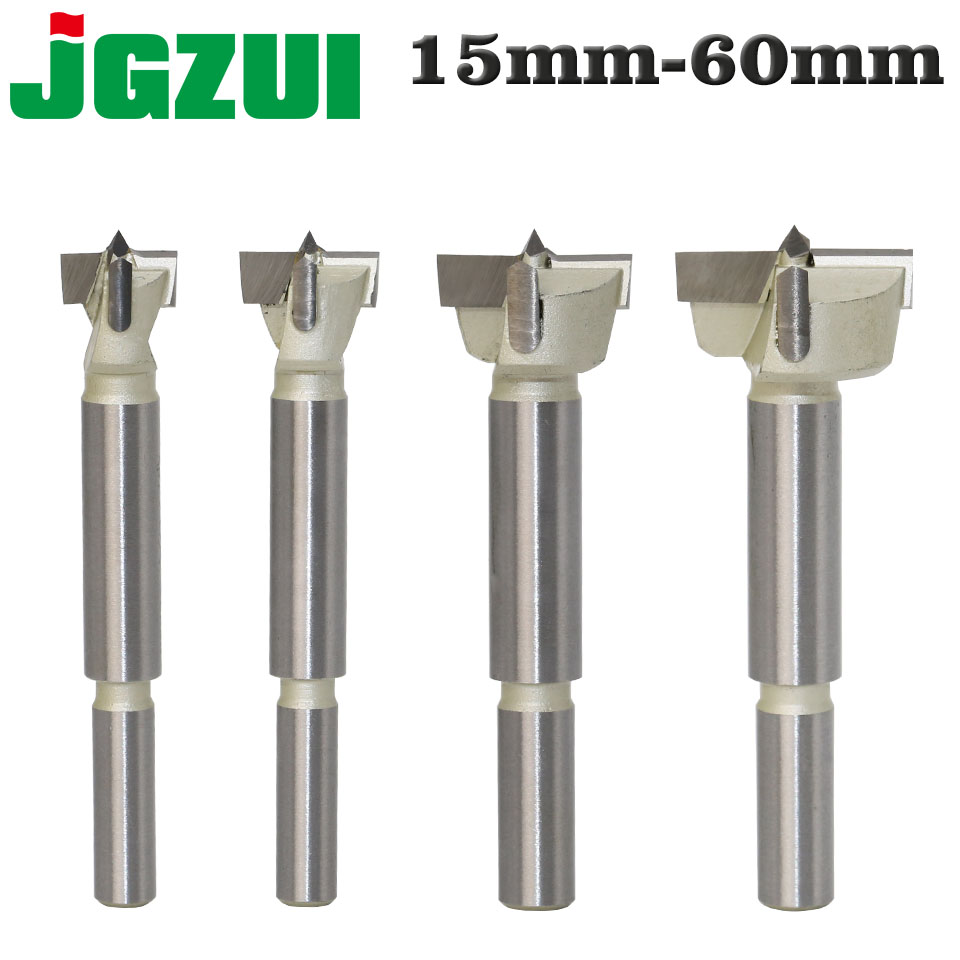 1pcs15mm-60mm Forstner Tips Woodworking Tools Hole Saw Cutter Hinge Boring Drill Bits Round Shank Tungsten Carbide Cutter
