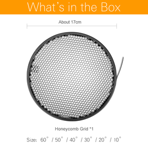 Image 2 - الألومنيوم العسل شبكة 6.7 17 سنتيمتر 2/3/4/5/6/7 مللي متر ل Bowens معيار عاكس شبكة التصوير استوديو