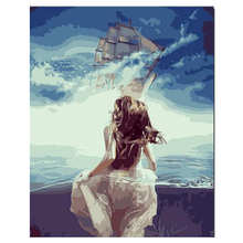 Diy Painting By Numbers,Pictures Numbers,Wall Picture,Sea Travel Digital Oil