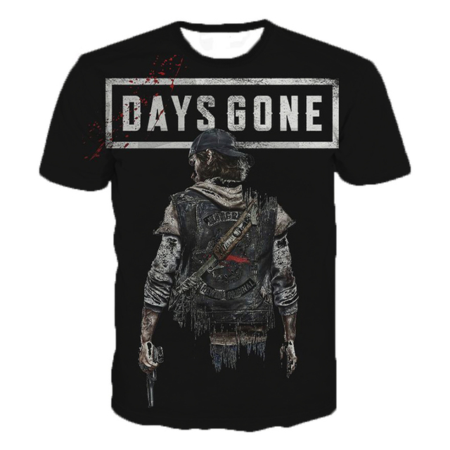 2019 Summer Fashion Casual New Game Days Gone T-Shirts Newest 3D Print Popular Game Days Gone T-Shirt Men Women Plus Size Tops