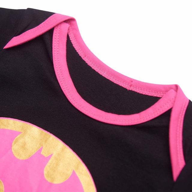 Nouveau-né Bébé Fille Batgirl Costume Body Infantile Partie Drôle Cosplay Combishort 0-24 Mois