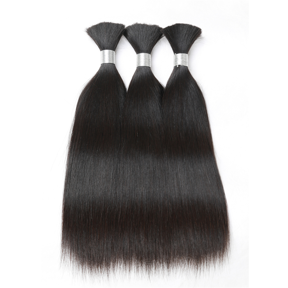 Rebecca Human Braiding Hair Bulk Remy Brazilian Straight Hair 3 Bundles For Braiding For Braiding 10