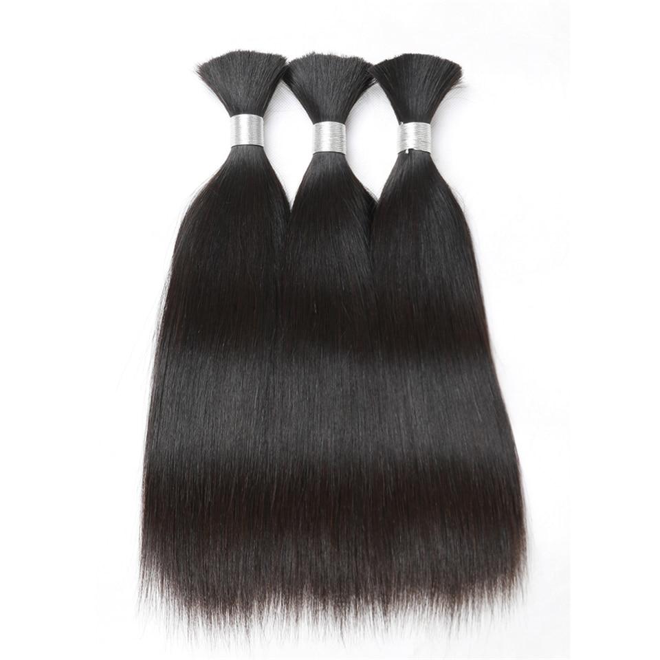 Rebecca Human Braiding Hair Bulk Remy Brazilian Straight Hair 3 Bundles For Braiding For Braiding 10  30 Inch Hair Free Shipping-in Salon Bundle Hair from Hair Extensions & Wigs    1