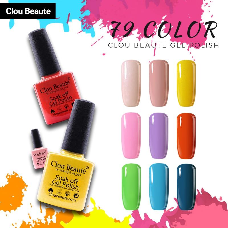 Clou Beaute 10ml Gel Nail Polish Powder Yellow Red Grass