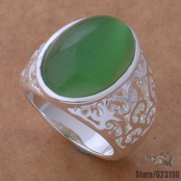 AR423 แหวนเงินสำหรับผู้หญิง, เงินแฟชั่นเครื่องประดับ, หยกสีหิน/einamzua fuzaomga