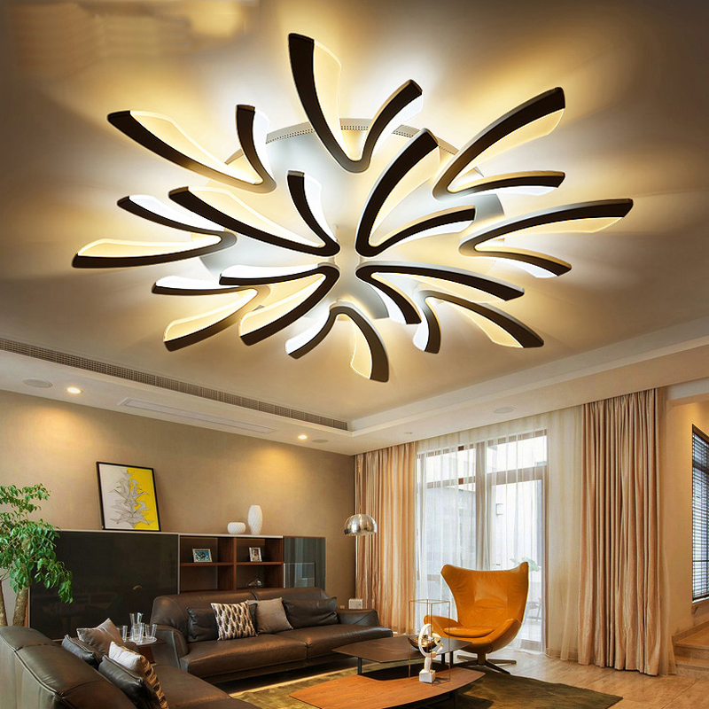 Remote control Modern led ceiling lights for bedroom smart ceiling lamps acrylic aluminum body LED Lamp ceiling living