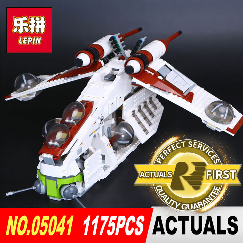 lepin 05041 STAR Coruscant Police Gunship model Building Blocks Bricks toys for boys LegoINGl 75021 toys for Children gift WARS new bela 10377 star wars wookiee gunship model building blocks sets wullffwarro kanan bricks