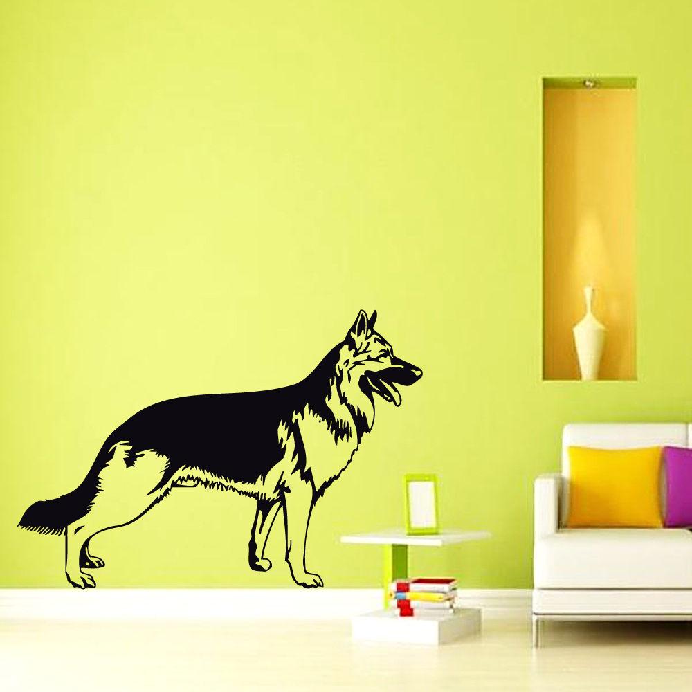 Diamond embroidery New Hot German Shepherd Dog Wall Decal Vinyl ...