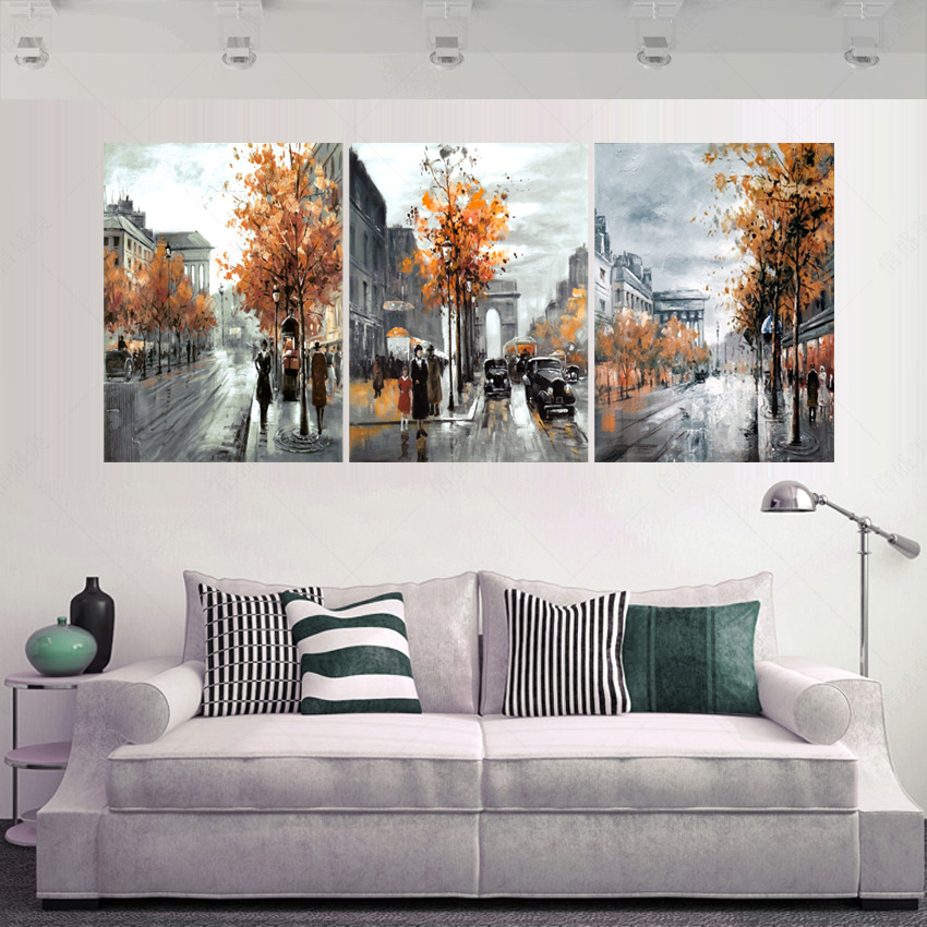 3 piece modern picture cuadros decoracion decoracion for Wall art paintings for living room