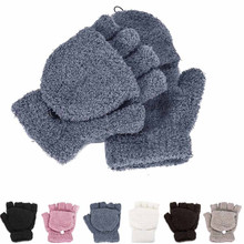 Fashion Winter Girls Women Ladies Hand Wrist Warmer Winter Solid Ladies Fingerless Gloves Mitten cheap Gloves Mittens Polyester MUQGEW Adult