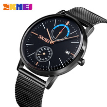 2019 SKMEI Luxury Men Quartz Watch Stainless Steel Strap Top Brand Watches Waterproof Male Wristwatches Relogio Masculino 9182 top brand luxury watches men watch casual quartz watches waterproof male clock fashion relogio masculino wristwatches skmei
