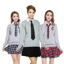 Cosplay Costume Japanese Korean girls uniforms sweater suit British College wind students clothing uniforms show