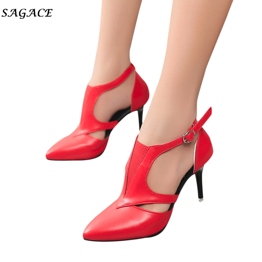 SAGACE Woman Shoes 2018 zapatos mujer Summer Lady Sandals Stiletto High Heels Mujer 12cm Office Lady Sandalia Party Pumps 2018 new arrival shoes woman stiletto zapatos mujer sandals chaussure femme ankle high heels party pumps sandalias femininas