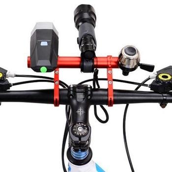 사이클링 핸들 바 자전거 손전등 홀더 핸들 바 자전거 액세서리 익스텐더 마운트 브래킷 자전거 확장 자동차 프레임