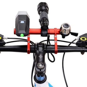 Cycling Handlebar Bike Flashlight Holder Handle Bar Bicycle Accessories Extender Mount Bracket Bike Extension Car Frame