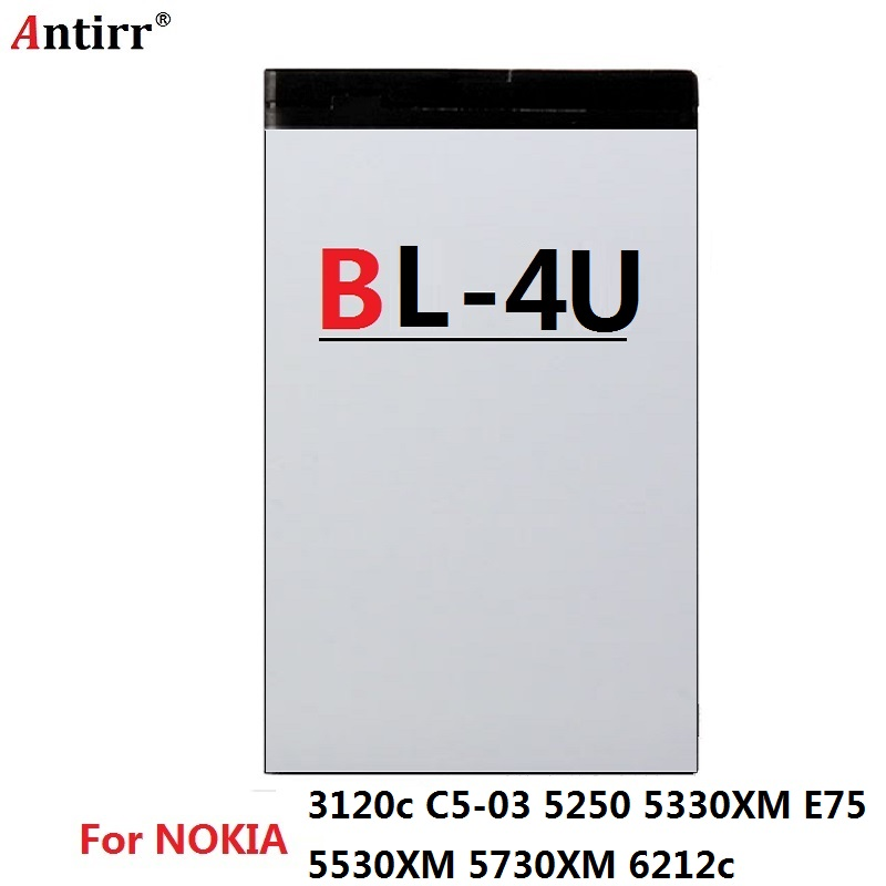 BL-4U BL 4U phone Battery For <font><b>Nokia</b></font> 206 515 5250 5330 XpressMusic 5730 C5-03 E66 Asha 300 500 <font><b>8800</b></font> Arte E75 Free Shipping image
