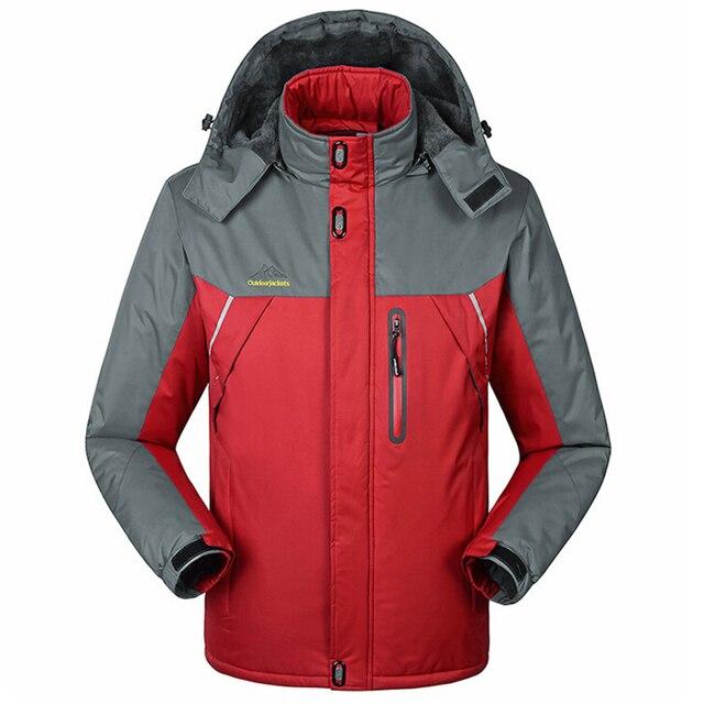 2017 New fashion musim dingin pria dan wanita tebal beludru hangat jaket  hot topi tahan air bd4043a036
