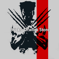 9 50*50 21000+ Bricks Creative Pixel Art Mosaic Painting Set Model Building Blocks Gift Toy Marvel Super Heroes Wolverine Movies