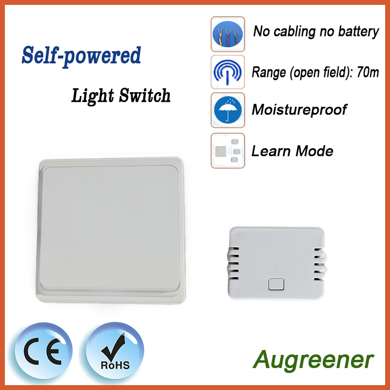 Augreener Wireless Wall Switch Remote Control Light Switch Self ...