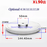 XL90 90 tooth Timing Pulley Aluminum 3D Printer Parts 90XL 90teeth Width 11mm Synchronous Wheel Gear