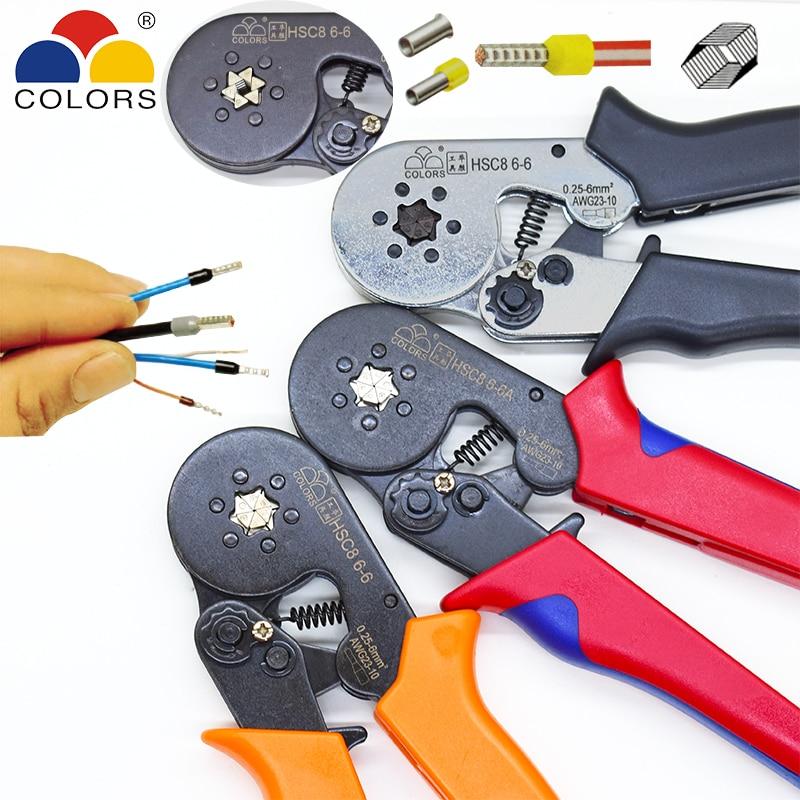 Mini 0.25~6mm2 End-sleeve 22~10AWG Pro Locking Crimping Press Pliers Tools