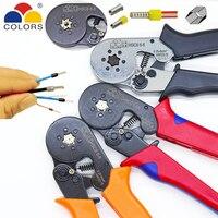 KLEUREN HSC8 6-6 krimptang 0.25-6mm2 23-10AWG voor buis terminal Hexagon druk mini type ronde neus europese merk gereedschap