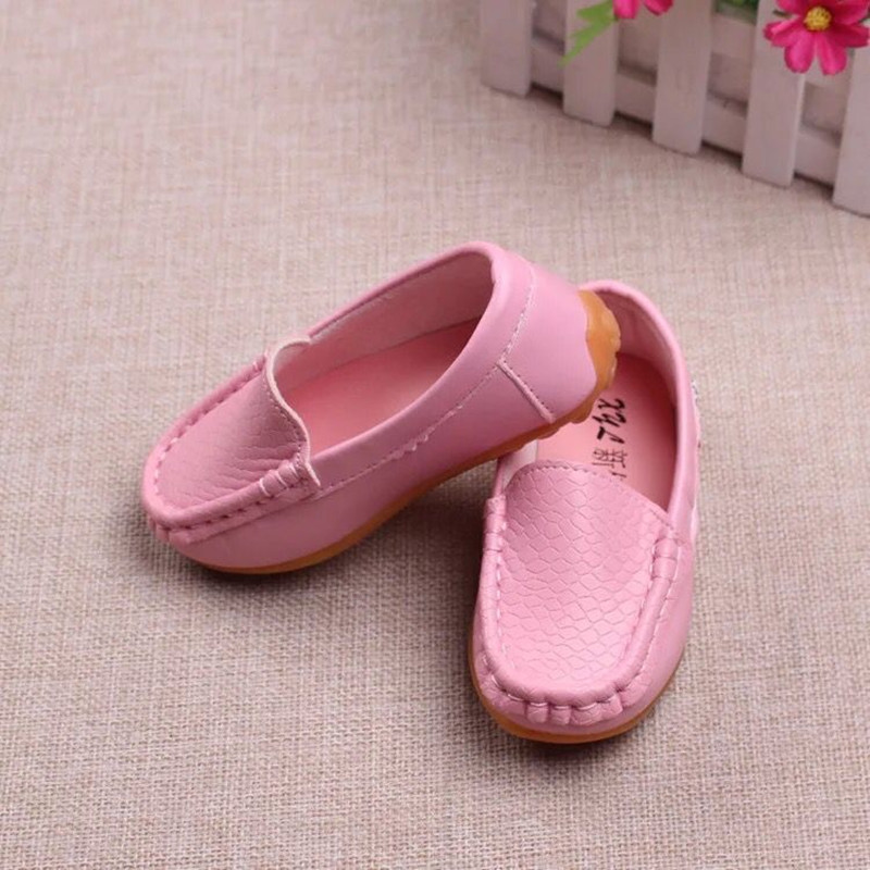 Genuine Leather Boys leather shoes Fashion Childrens moccasin-gommino Shoes Boys school Shoes non-slip Children Sneaker