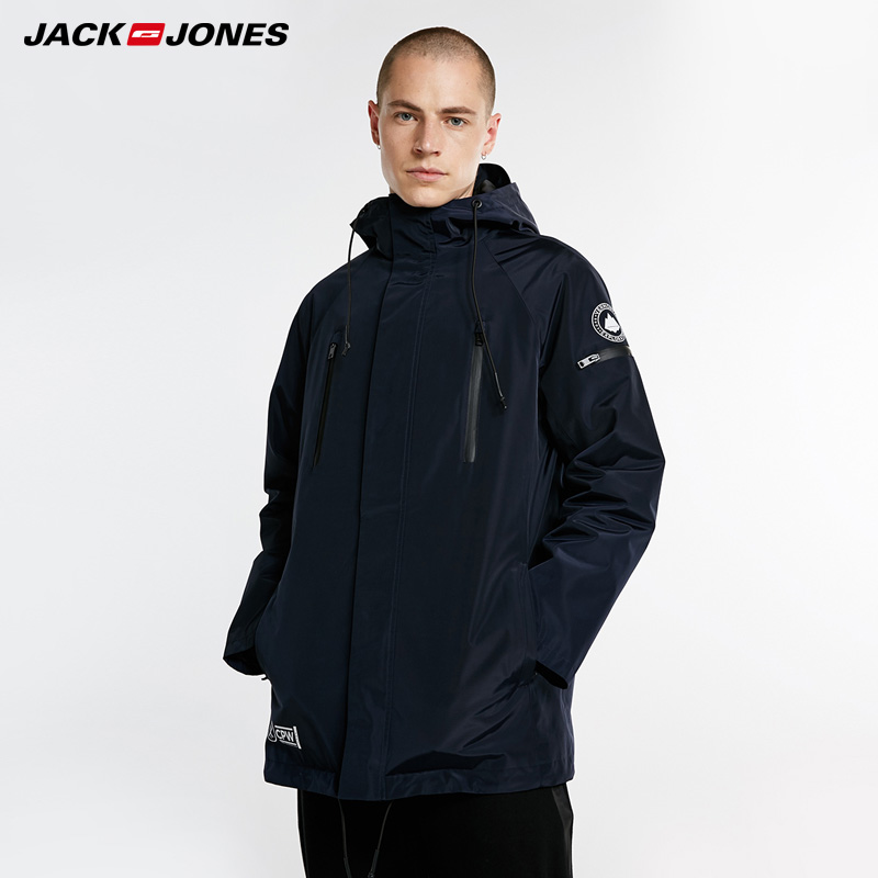 Jack Jones Autumn Winter New Men's Reversible Hooded Cotton Coat Men   Parka  | 218309510