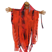Halloween Prop Hanging Grim Reaper Scary Decoration Outdoor Decor Mask Halloween 30 2017 Hot Sale