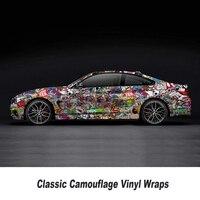 car sticker bomb Camo Vinyl Wrap Car Wrap With Air Release Motobike sticker bomb sticker Car Body Stick 5m/10m/15m/20m/25m/30m
