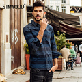 SIMWOOD 2016 New Autumn  Winter Long Sleeve casual striped shirts men fashion cotton brand clothing CS1558