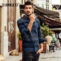 Simwood 2016 novo outono inverno de manga comprida casual camisas dos homens marca de moda de algodão listrado clothing cs1558