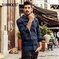 Simwood 2016 nueva otoño invierno de manga larga casual hombres camisetas de rayas algodón de la manera brand clothing cs1558