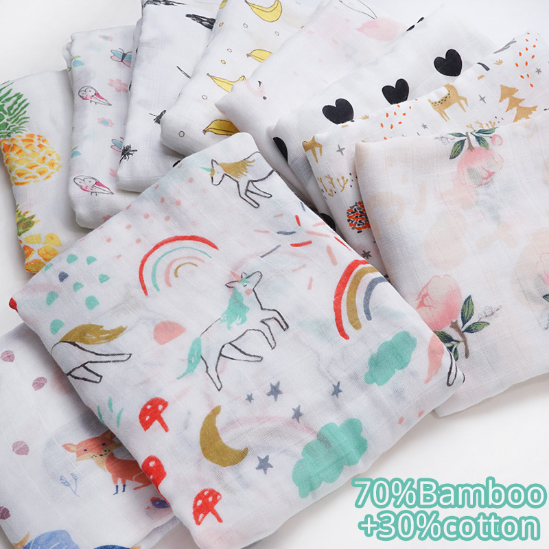 Baby Blankets Newborn Swaddle Feeding Wrap Parisarc Bamboo Cotton Soft Infantil Kids Accessories Baby Diapers Baby Bath Towel