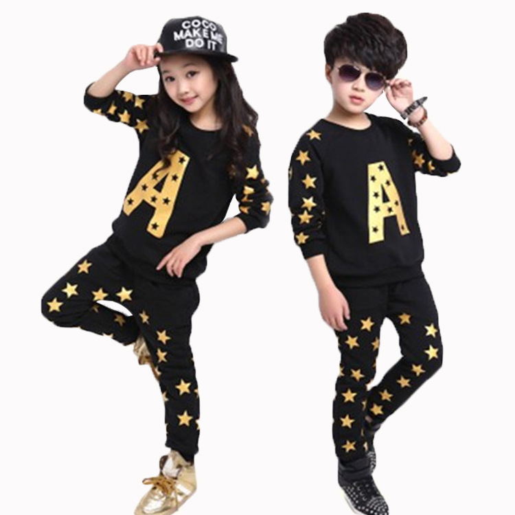 2016 New arriving Kids's Clothes the Boys and Lady's Energetic Kids's Units for Spring and Autumn Fits3-11Y clothes materials, set console, set hangers,Low-cost clothes materials,Excessive High quality set console,...
