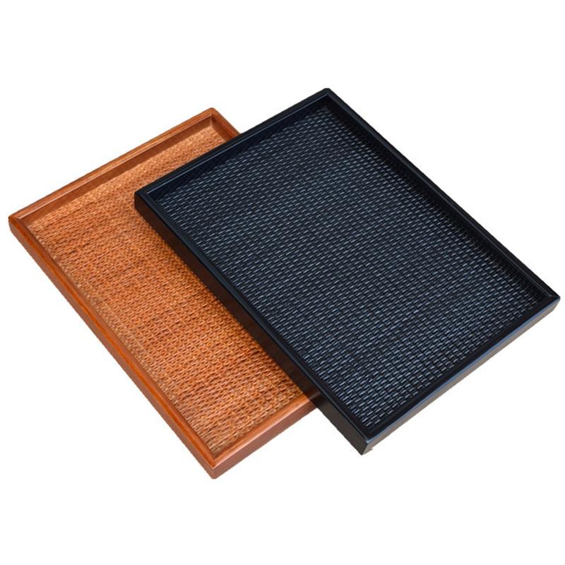 Top 20 Tea Platters: Kitchen Utensil Wooden Rattan Tea Tray Kungfu Tea Board