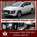 Night lord 7pcs Car Front Map lamp Trunk bulb rear Dome light LED car Interior Light Kit for Peugeot 3008 2008-2015 year