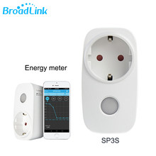 Broadlink Sp3s EU Socket Wireless Wifi Power Socket With Energy Meter 3G 4G Remote Smart Outlet Support Alexa Google Home Mini(China)