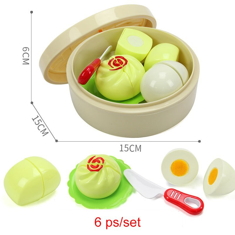2019 Fashion Baby Play Kitchen Toys 2018 New Children Play House Cut Simulation Food Steamed Dumplings Steam Toys Educational Playset Kitchen Toys Toys & Hobbies