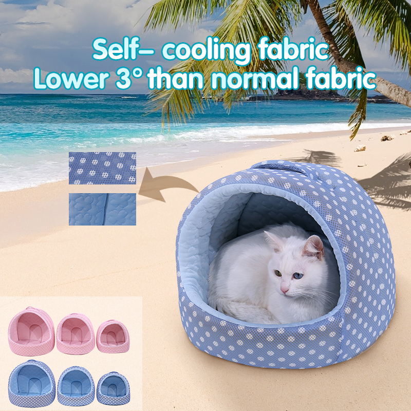 High Qulity 3 size Self Cooling Pet Cave Bed For Big Dogs Summer Keep Cool House Mat Soft Kitten Cushion Indoor Pet Car Mat