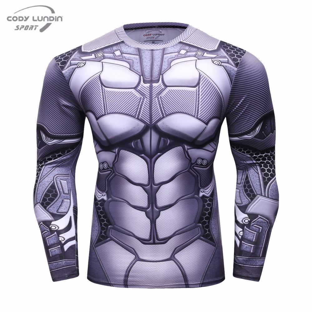 Men's Compression Shirt 2017 New THOR Cosplay Long Sleeve Tops Crossfit Fitness Apparel THOR 3D Printed T-shirts
