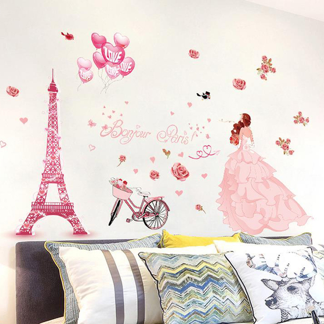 flower wall stickers home decor living room blossoming flower wall