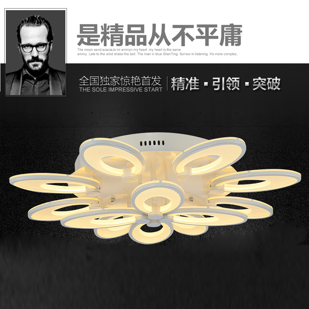 ФОТО Ceiling Lights Creative Art flowers - ceiling lamps modern LED ceiling lamp warm - Romantic bedroom lamp